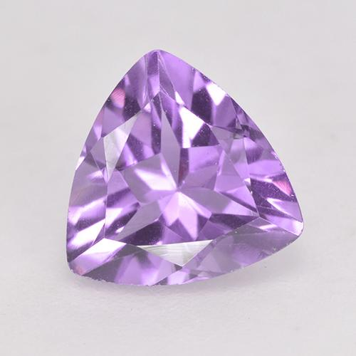 Medium Violet Amethyst Gem - 1.6ct Trillion Facet (ID: 532976)