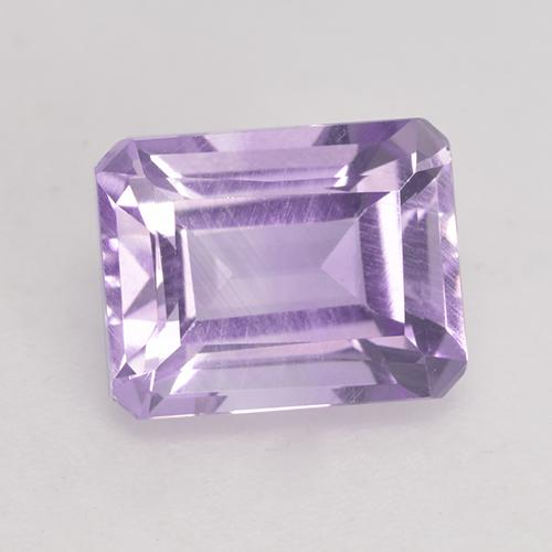 Light Pinkish Violet Amethyst Edelstein - 2.6ct Oktagon facettiert (ID: 533179)