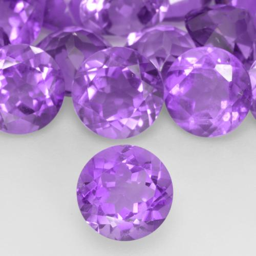 1.20 ct Sfaccettatura rotonda Vivid Violet Ametista Gem 7.02 mm  (Photo A)