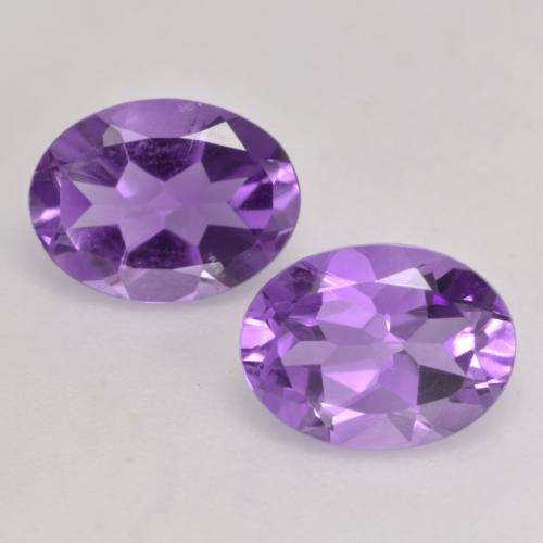 Deep Violet Amethyst Gem - 1ct Oval Facet (ID: 536130)