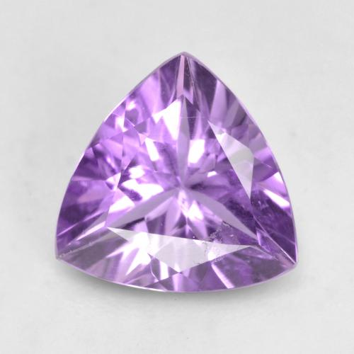1.2ct Trillion Facet Medium Purplish Violet Amethyst Gem (ID: 536162)