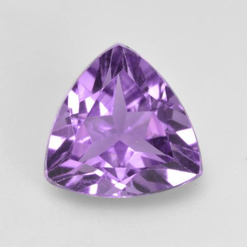 1.4ct Trillion Facet Medium Purplish Violet Amethyst Gem (ID: 536195)