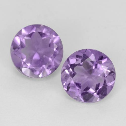 Medium Violet Amatista Gema - 0.5ct Faceta Redonda (ID: 541589)