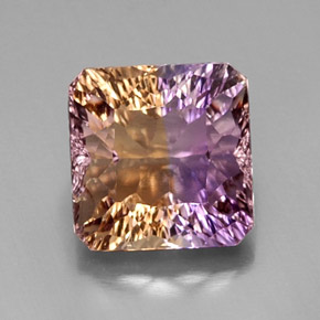 Buy 9.03 ct Bi-Color Ametrine 12.33 mm x 12.1 mm from GemSelect (Product ID: 302989)