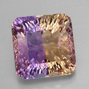 Buy 12.03 ct Bi-Color Ametrine 13.89 mm x 13.5 mm from GemSelect (Product ID: 312956)