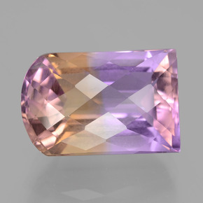 Bi-Color Ametrine Gem - 15ct Fancy-Cut (ID: 406608)