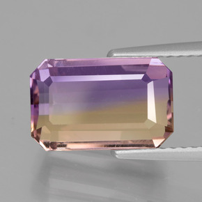 4.48 ct Octagon Facet Bi-Color Ametrine Gemstone 11.87 mm x 7.6 mm (Product ID: 427799)