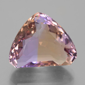Bi-color Ametrine Gem - 17.4ct Trillion Facet (ID: 433660)