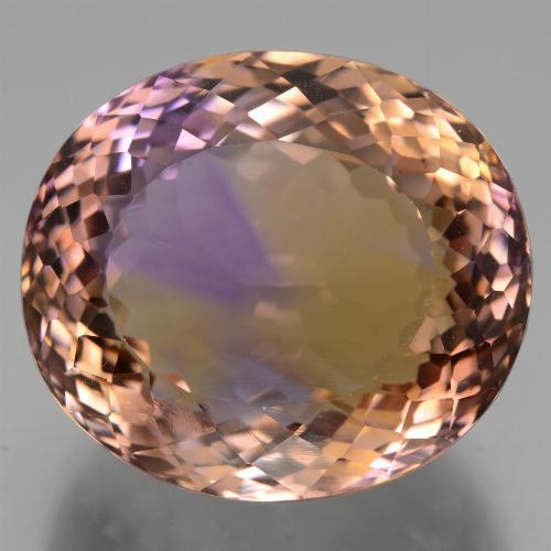 Bi-Color Ametrine Gem - 31.8ct Oval Facet (ID: 434438)