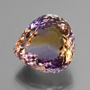 27.15 ct Pear Facet Bi-Color Ametrine Gemstone 20.51 mm x 19.2 mm (Product ID: 434531)