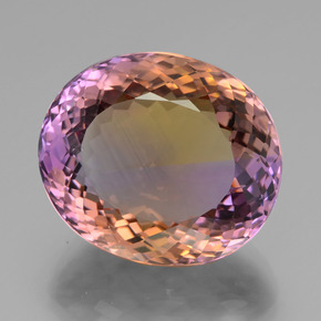 35.91 ct Oval Portuguese-Cut Bi-Color Ametrine Gemstone 22.21 mm x 19.2 mm (Product ID: 439466)
