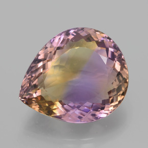 Bi-Color Ametrine Gem - 30.4ct Pear Facet (ID: 439550)