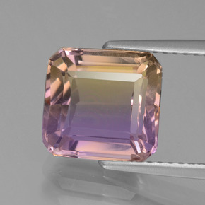 3.7ct Octagon Facet Bi-Color Ametrine Gem (ID: 441383)