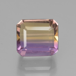 Bi-Color Ametrine Gem - 4.4ct Octagon Facet (ID: 441785)