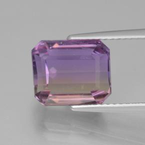 Bi-color Ametrine Gem - 4.8ct Octagon Step Cut (ID: 441822)