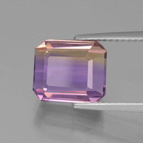 Bi-Color Ametrine Gem - 4.3ct Octagon Facet (ID: 441928)