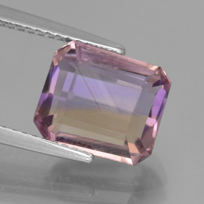 Bi-Color Ametrine Gem - 3.8ct Octagon Facet (ID: 442106)