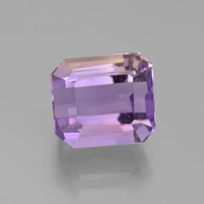 Bi-color Ametrine Gem - 4.9ct Octagon Step Cut (ID: 442265)
