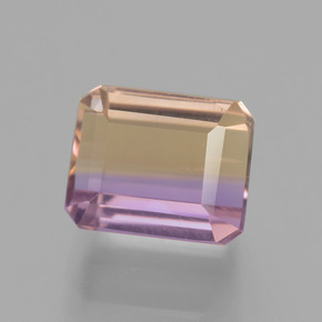 3.5ct Octagon Facet Bi-Color Ametrine Gem (ID: 442427)
