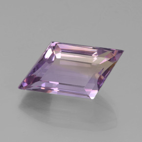 Bi-color Ametrine Gem - 7.5ct Rhomb Facet (ID: 442768)