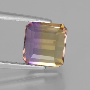 3.5ct Octagon Facet Bi-color Ametrine Gem (ID: 443025)