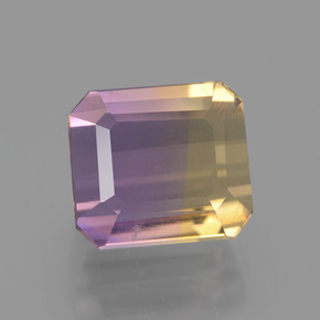 Bi-Color Ametrine Gem - 3.7ct Octagon Facet (ID: 443136)