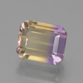 2.6ct Octagon Facet Bi-Color Ametrine Gem (ID: 443139)