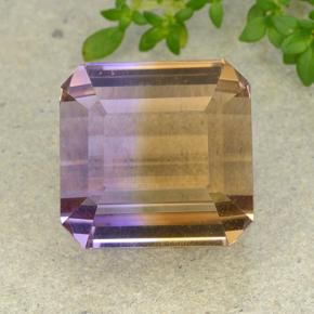 32.6ct Octagon Step Cut Bi-color Ametrine Gem (ID: 458166)