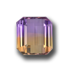 24ct Octagon Step Cut Bi-color Ametrine Gem (ID: 459051)