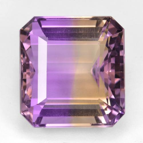 Bi-color Ametrine Gem - 22.4ct Octagon Step Cut (ID: 459056)