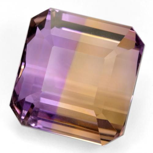 34.5ct Octagon Step Cut Bi-Color Ametrine Gem (ID: 459078)