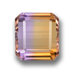 Bi-color Ametrine Gem - 25.1ct Octagon Step Cut (ID: 459095)