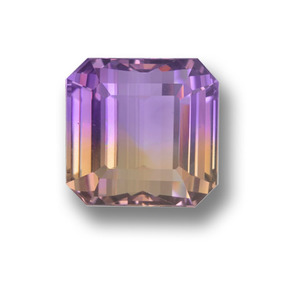 Bi-Color Ametrine Gem - 24.1ct Octagon Step Cut (ID: 459213)