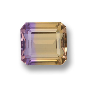 3.1ct Octagon Step Cut Bi-Color Ametrine Gem (ID: 459593)