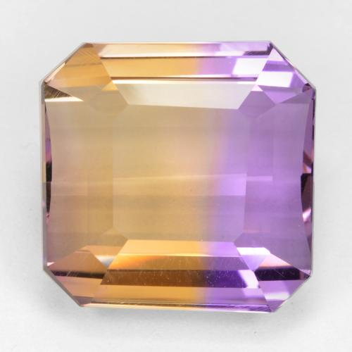 Bi-color Ametrine Gem - 18.7ct Octagon Step Cut (ID: 461694)