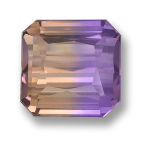 Bi-Color Ametrine Gem - 21.5ct Octagon / Scissor Cut (ID: 461793)