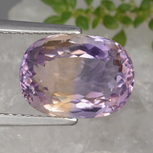 Bi-Color Ametrine Gem - 4.5ct Oval Facet (ID: 470196)