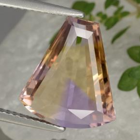 Bi-Color Ametrine Gem - 4.7ct Fancy Facet (ID: 470333)