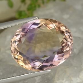 Bi-Color Ametrine Gem - 7.8ct Oval Facet (ID: 475731)