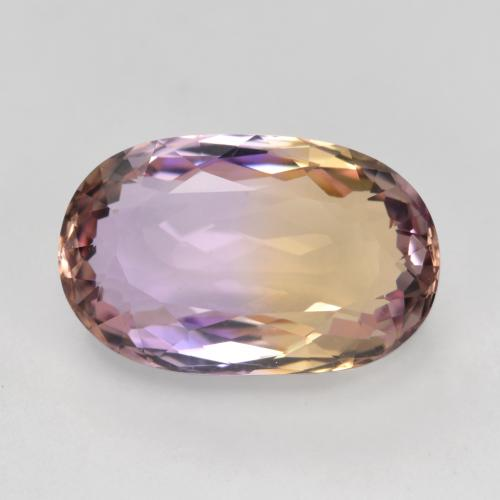 Bi-Color Ametrine Gem - 4.5ct Oval Facet (ID: 481582)