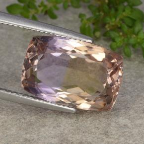 Bi-Color Ametrine Gem - 10.5ct Cushion-Cut (ID: 483772)