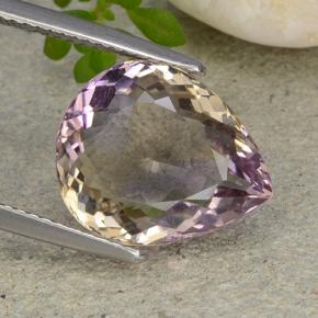 Bi-Color Ametrine Gem - 6ct Pear Facet (ID: 483789)
