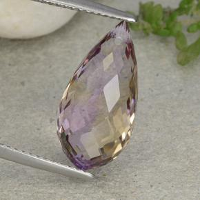 Bi-Color Ametrine Gem - 7.2ct Briolette with Hole (ID: 484431)