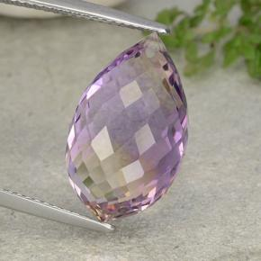 Bi-Color Ametrine Gem - 12ct Briolette with Hole (ID: 484439)