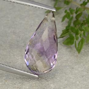 Bi-Color Ametrine Gem - 5.6ct Briolette with Hole (ID: 484445)