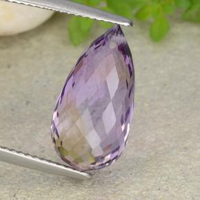 Bi-Color Ametrine Gem - 7.4ct Briolette with Hole (ID: 484473)