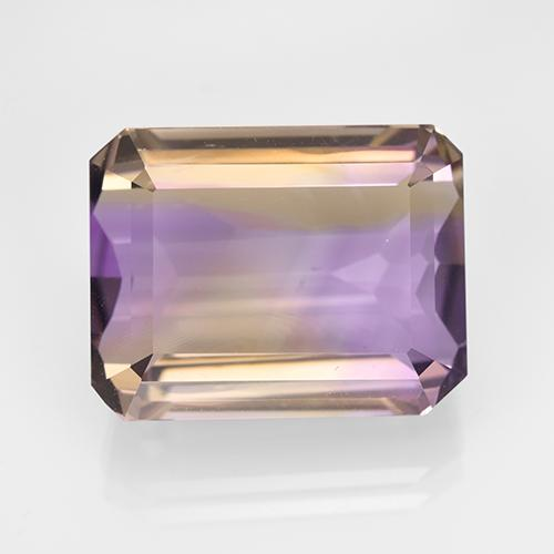 Bi-Color Ametrine Gem - 16.4ct Octagon Step Cut (ID: 504040)