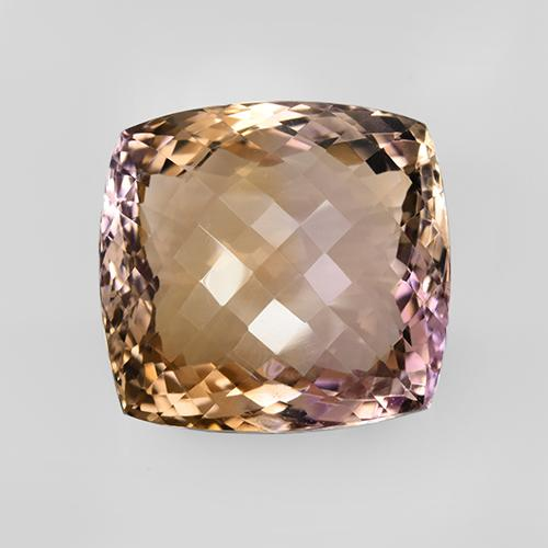 78ct Cushion Checkerboard Bi-Color Ametrine Gem (ID: 505493)