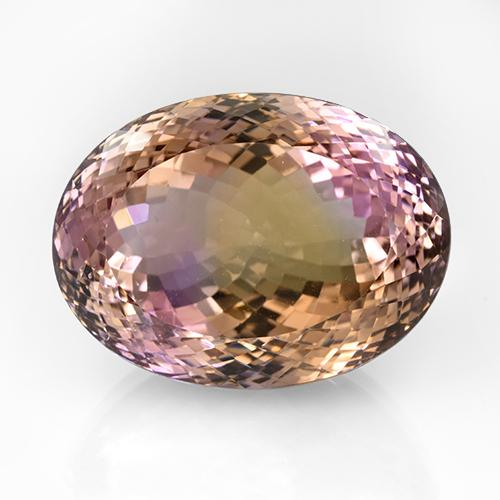 79.1ct Oval Portuguese-Cut Bi-Color Ametrine Gem (ID: 505501)
