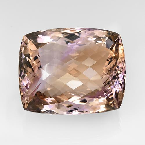 102.3ct Cushion Checkerboard Bi-Color Ametrine Gem (ID: 505503)